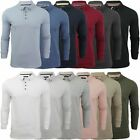 Mens Polo T-Shirt by Brave Soul 'Lincoln' Pique Long Sleeved S-XXL New
