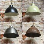 SMALL CLASSIC DESIGNER ENAMEL METAL PENDANT LAMPSHADE. A CHOICE OF GREAT COLOURS