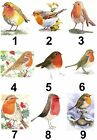 Robin Christmas Small or Large Sticky White Paper Stickers Labels New