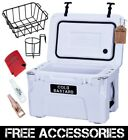 New COLD BASTARD ICE CHEST COOLER BEST PRICE YETI QUALITY FREE S&H WHITE 25L