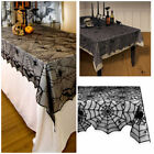 1 Pcs Lace Black Spider Web Halloween Tablecloth Tablecover Rectangle 122x244cm
