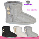 Ladies Womens Cardigan Knitted Shoes Fur Lined Warm Winter Fashion Boots Booties