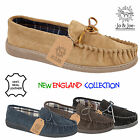 MENS GENTS REAL SUEDE LEATHER TARTAN MOCCASIN SLIPPERS SIZE UK 6 7 8 9 10 11 12