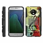 For Motorola Moto E4 / Moto E 4th Gen Rugged Hybrid Holster Belt Clip Case Armor