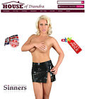 PVC micro mini skirt  Black / Red / Pink (S1401)
