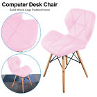 Retro Eiffel Dining Computer Desk Chair Seat Wooden Leg Home Office Room Study