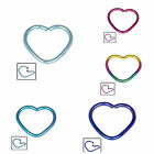 Titanium Coated Steel Continuous Heart Rings 1.2mm