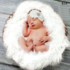 Newborn Baby Soft Faux Fur Photography Props Background Backdrop Blanket Rug