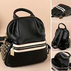 Women's Small Real Leather Stud Backpack Rucksack Daypack Purse Cute bag Travel