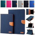 Magnetic Smart Canvas Case Cover for iPad 9.7 2017 Mini 1 2 3 4 Air 1st Pro 10.5