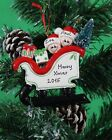 Personalised Christmas Tree Ornament Sleigh  Family of 2-3-4-5