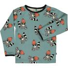 BNWT New Smafolk Stone Blue Racoon Long Sleeved T-shirt Boys Girls Top