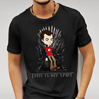 MEN'S THIS IS MY SPOT CREW NECK SHORT SLEEVE T-SHIRT AVAILABLE IN BLACK OR WHITE