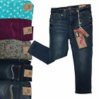 New LEE Little Girl's Toddler's Skinny Print Jeans Stretch Dark Embellished 3T-7