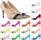 NEW!OL Womens High heels Shoes Leather Pointed Dress Pumps Wedding shoes