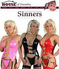 PVC corset style top with straps attached with buckle strap by Sinners (S1006)