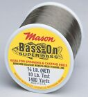 "Mason ""BASS-ON"" Premium Super Bass Abrasion Resistant Mono Line 6lb - 30lb Test"
