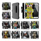 For Motorola Droid Versions Rugged Hybrid Holster Belt Clip Case Armor Robots