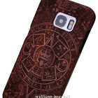 Genuine Maya Carved  Wood Bamboo Case Back Cover+Film For Samsung Galaxy S8 Plus