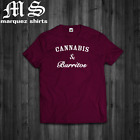 T-Shirt Cannabis & Burritos Mens Swag Dope Hipsters 420 Weed Tee