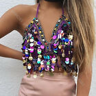 Sequin Halter Bra Top Salsa Belly Dance Boho Festival Tribal Paillette Bra Top