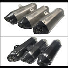 Real Carbon Fiber Cone Exhaust Pipe With Bracket For Motorcycle Scooter 38-51mm