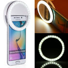 Selfie Portable LED Ring Fill Light Camera Photography for Cell Phone iPhone USA