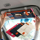 Car Sun Visor Multi-Pocket Card Sunglasses Holder Storage Bag Organizer