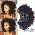 New style Afro Kinky Curly Clip In Human Hair Extensions 10pcs/120g Very Thick