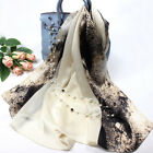 "100% Pure Mulberry Silk Women Large Long Scarf Shawl Contrast Color 69""*26"""