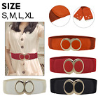 Stylish Women Ladies Belt Elasticated Stretchy with Sturdy Metal Gold Buckle 489