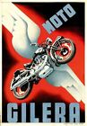 MOTO GILERA MOTORCYCLES METAL TIN SIGN POSTER WALL PLAQUE