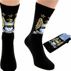 Official Manchester City F.C football socks 1 Pack Mens (40-46) & Junior (36-40)