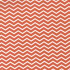 Mono Narrow Chevron - Orange - 100% Cotton Fabric Modern Stripe Nursery