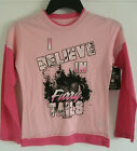 "Girl's Realtree Pink ""I Believe In Furry Tails"" Long Sleeve Shirt Buck Camo NWT"