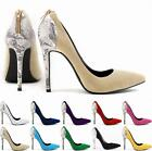 HOT!Women's Flannelet High Heel Point Toe Shoes Classic Stiletto Wedding shoes