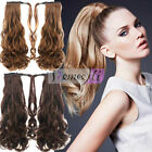 Long Curly Ponytail Hairpieces Human Hair Extension Tail Ponytail For Women 120g