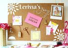 Cork Notice Board Personalised ADD A NAME memo notes meal planner pin board Gift