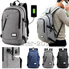 Anti-Theft Backpack USB Charging Port Rucksack Laptop School Bag Travel Bag US