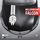 MILLENNIUM FALCON HAN SOLO RACE HOOD STRIPES Star Wars Car Vinyl Sticker Decal $29.5 USD on eBay