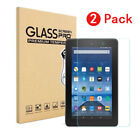 """US For Amazon Kindle Fire 7 / HD 8"""" (2017) Tempered Glass Screen Protector Film"""