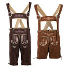 Внешний вид - Authentic Mens German Bavarian Lederhosen Suspenders Shorts Oktoberfest Costume
