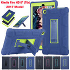 "Kickstand Rugged Hard Armor Case Cover For Amazon Kindle Fire HD 8"" 7th Gen 2017"