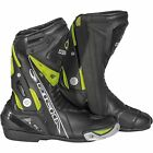 Richa Blade Waterproof Race Leather/Textile Motorcycle Boots - Black/Fluo