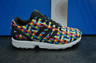 ADIDAS ZX FLUX SPORTS RUNNING TRAINERS BOYS GIRLS WHITE BLACK FLYKNIT S82749