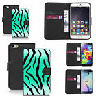 black pu leather wallet case cover for many Mobile phones - design ref zx0043