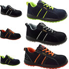 LADIES MENS ULTRA LIGHTWEIGHT STEEL TOE CAP SAFETY WORK TRAINERS SUEDE LEATHER S