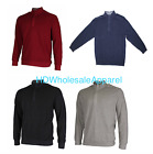 Greg Norman Mens Natural Performance Ribbed Quarter Zip Pullover Golf Sweater