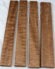 Highly figured Quilted Sapele electric guitar neck blank 3.5-4.25x28