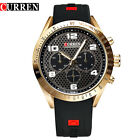 Curren Men's Gold Sport Military Army Quartz Analog Wrist Watch Blue/Black Band